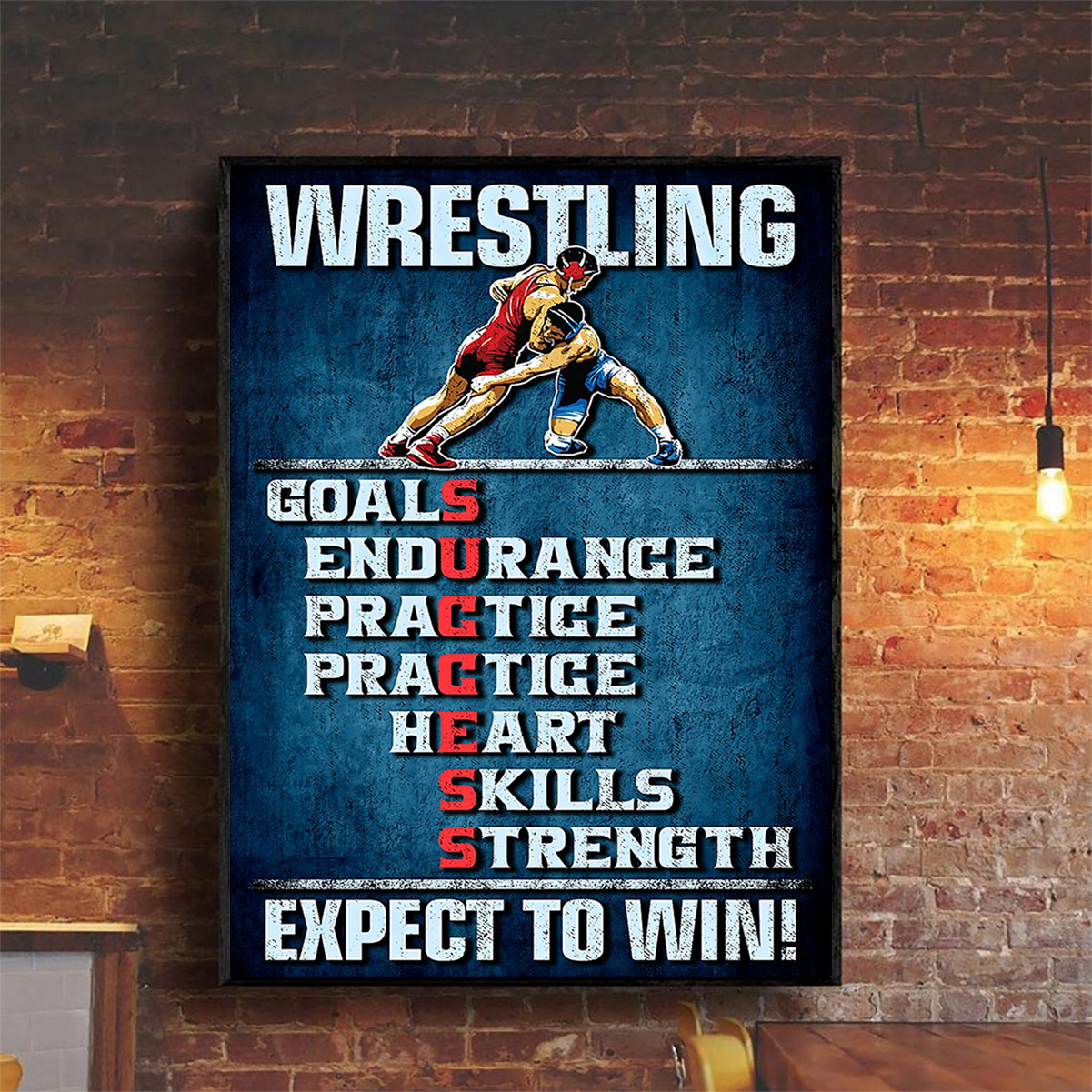 Wrestling expect to win poster A2