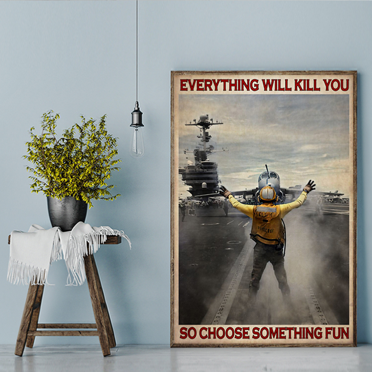 Aircraft marshalling be strong be brave be humble be badass poster A1