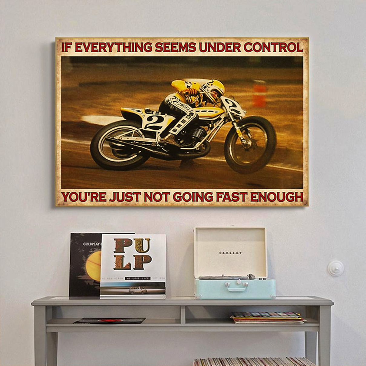 American flat track if everything seems under control poster A3