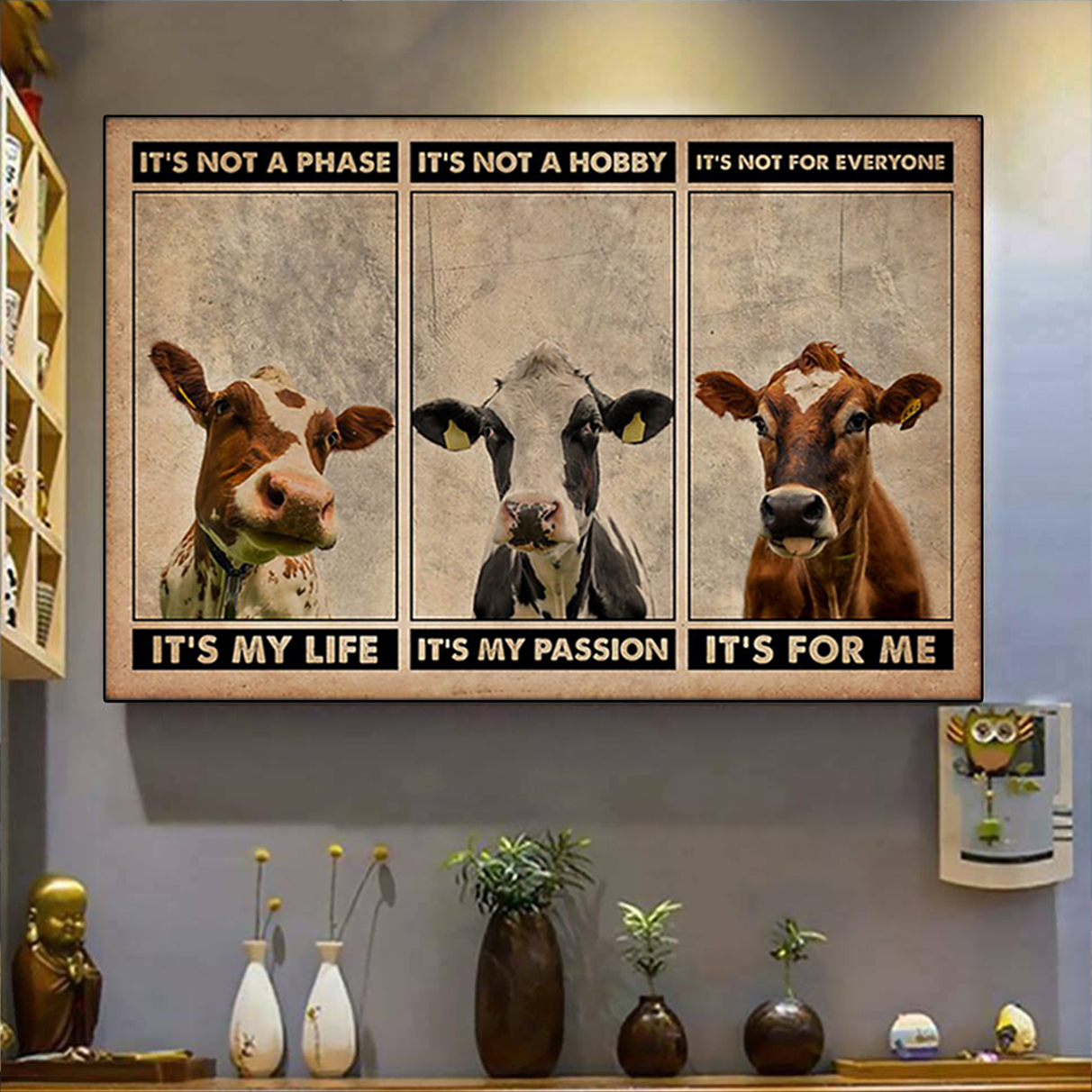 Cattle it's not a phase poster A3