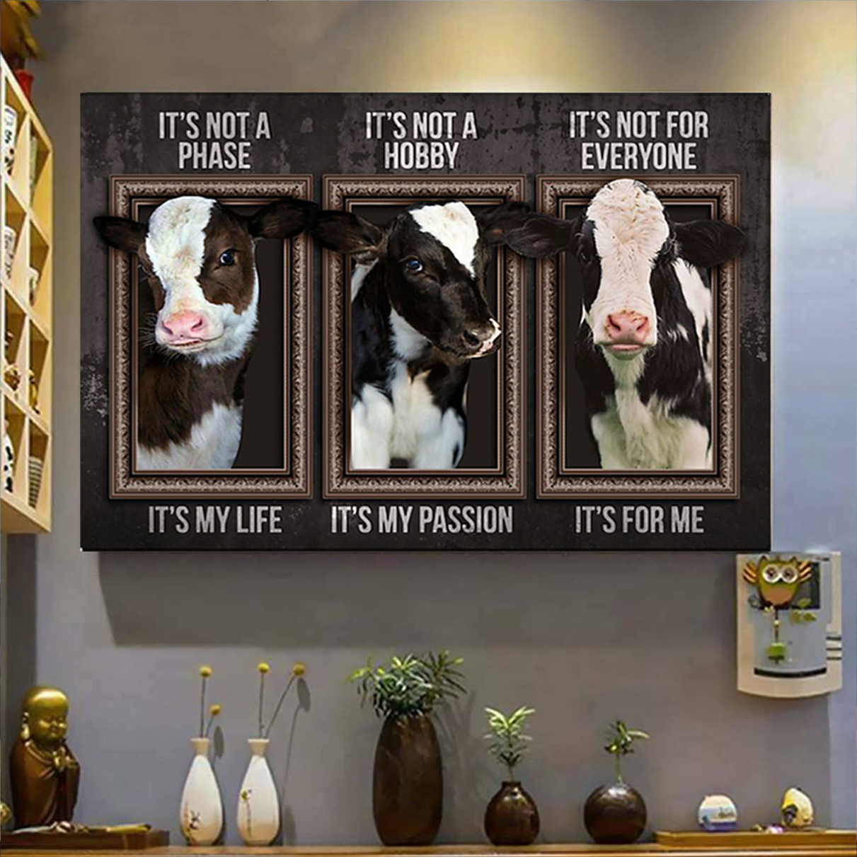Dairy cattle it's not a phase poster A2