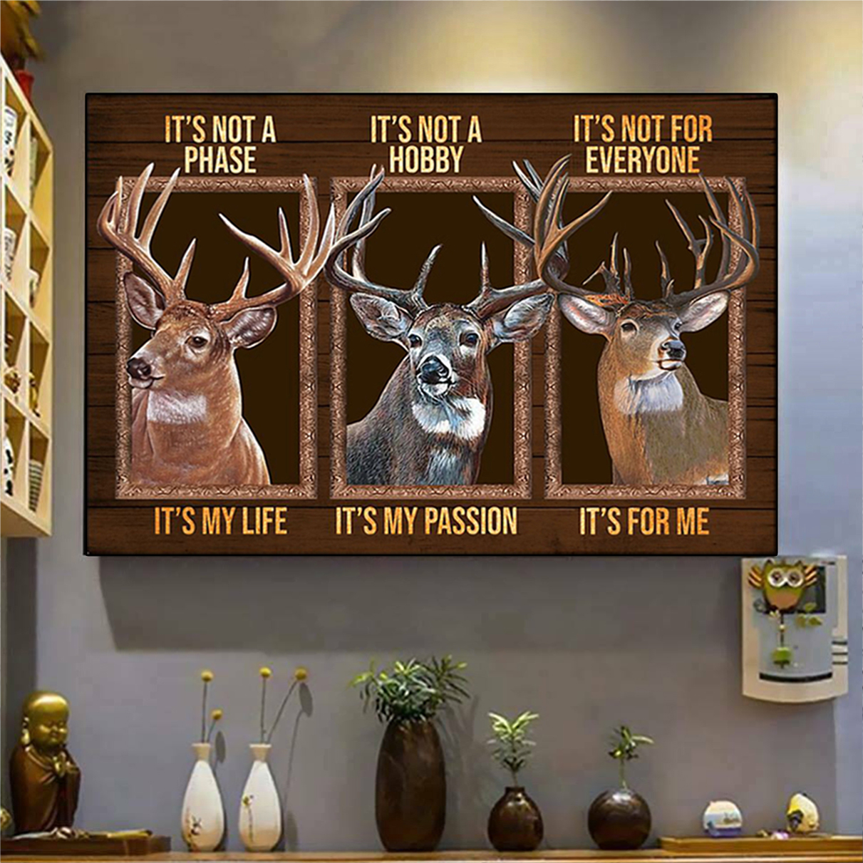 Deer be strong be brave be humble be badass poster A1