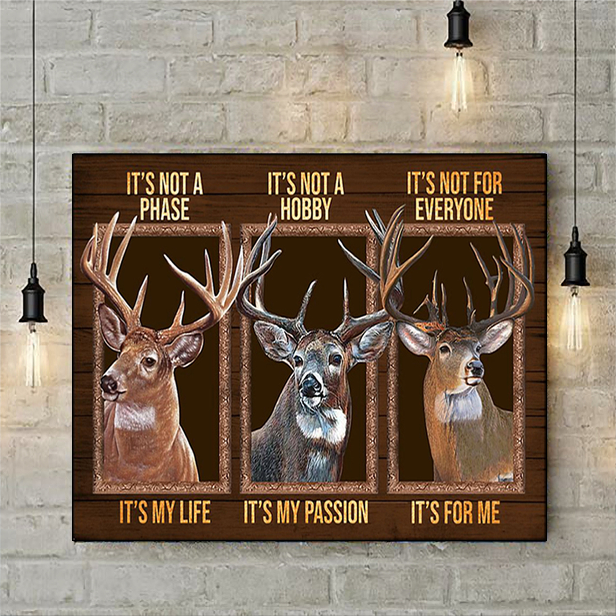 Deer be strong be brave be humble be badass poster A3