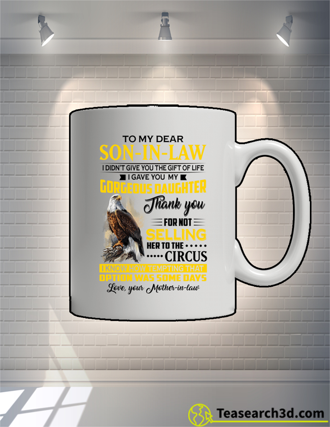 Eagle To My Dear Son In Law Mother In Law Mug 11oz