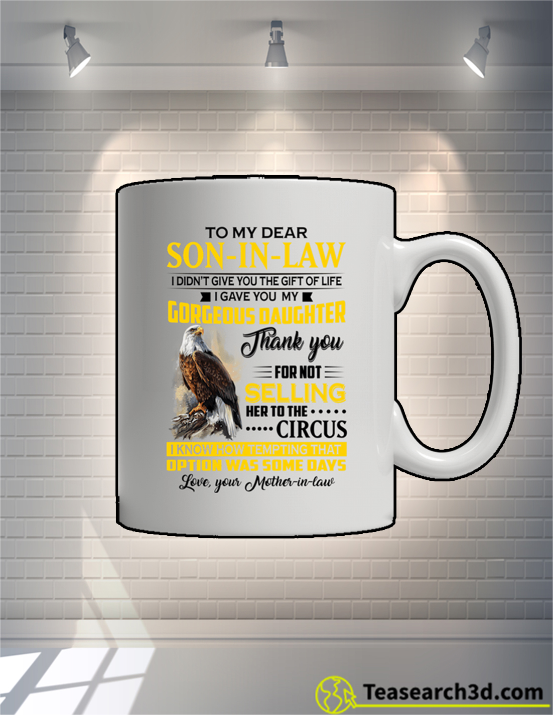 Eagle To My Dear Son In Law Mother In Law Mug 15oz