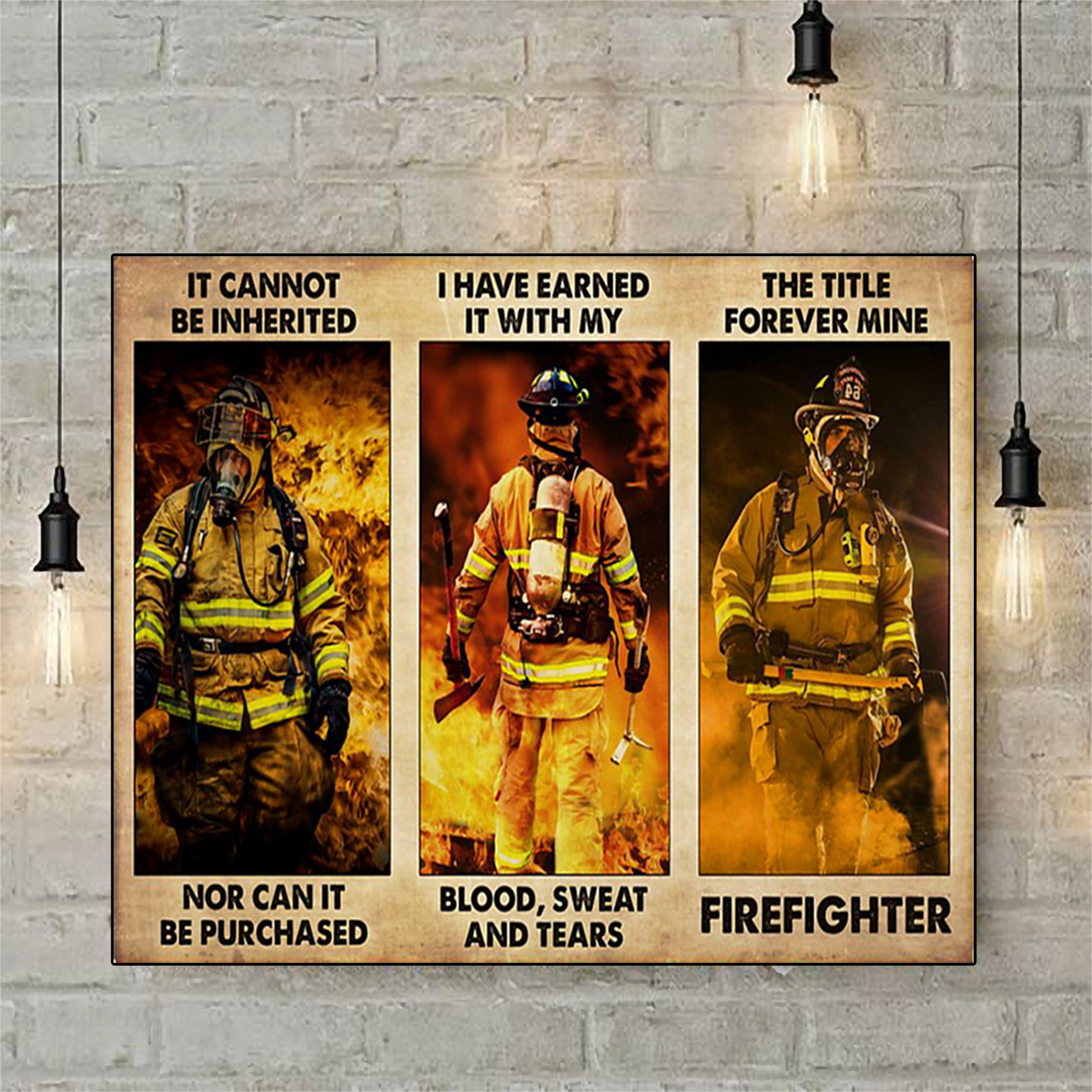 Firefighter it cannot be inherited poster A1