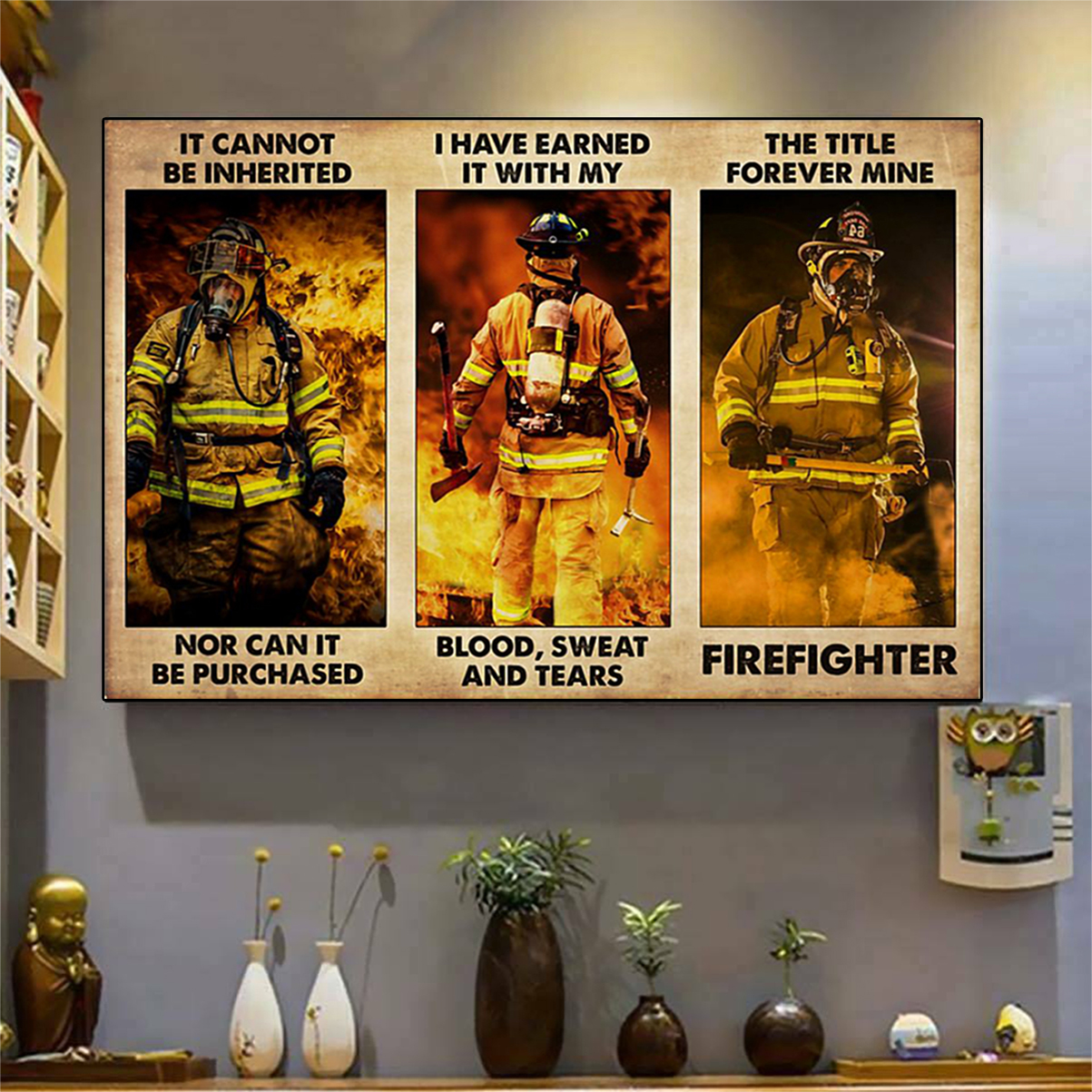 Firefighter it cannot be inherited poster A2