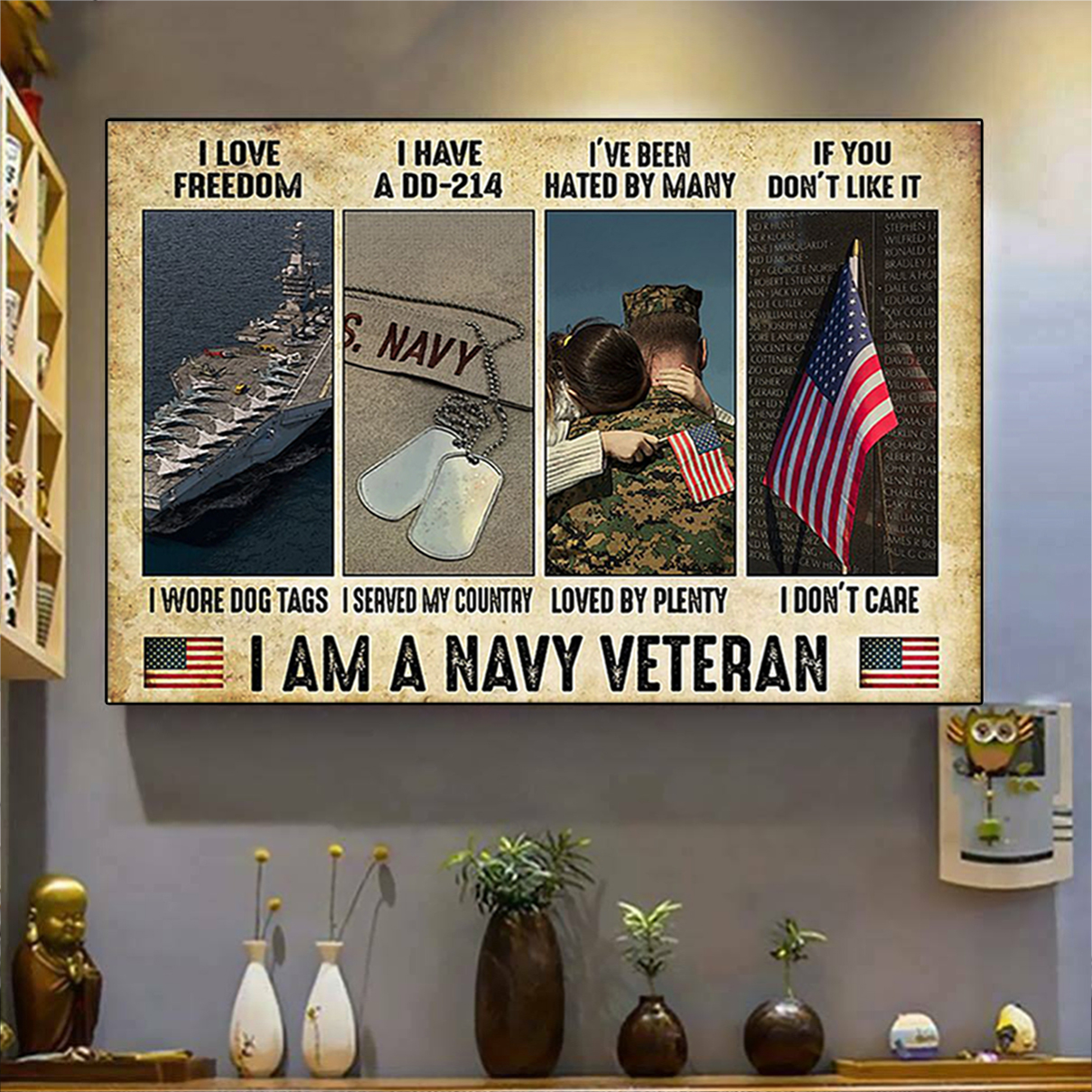 I am a navy veteran poster A3