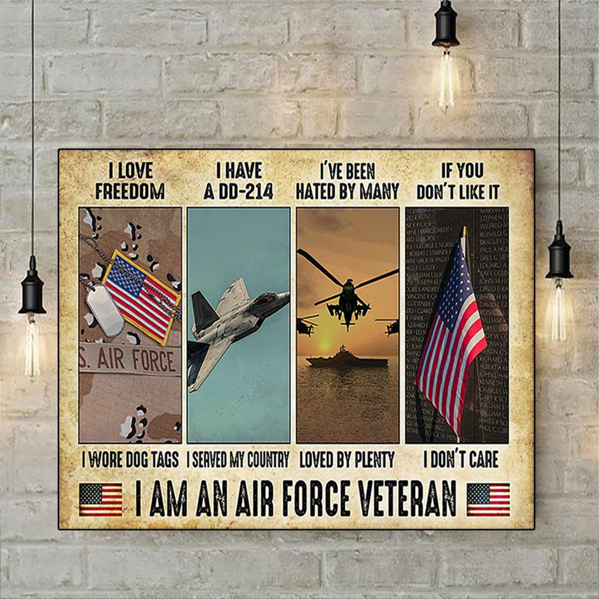 I am an air force veteran poster A1
