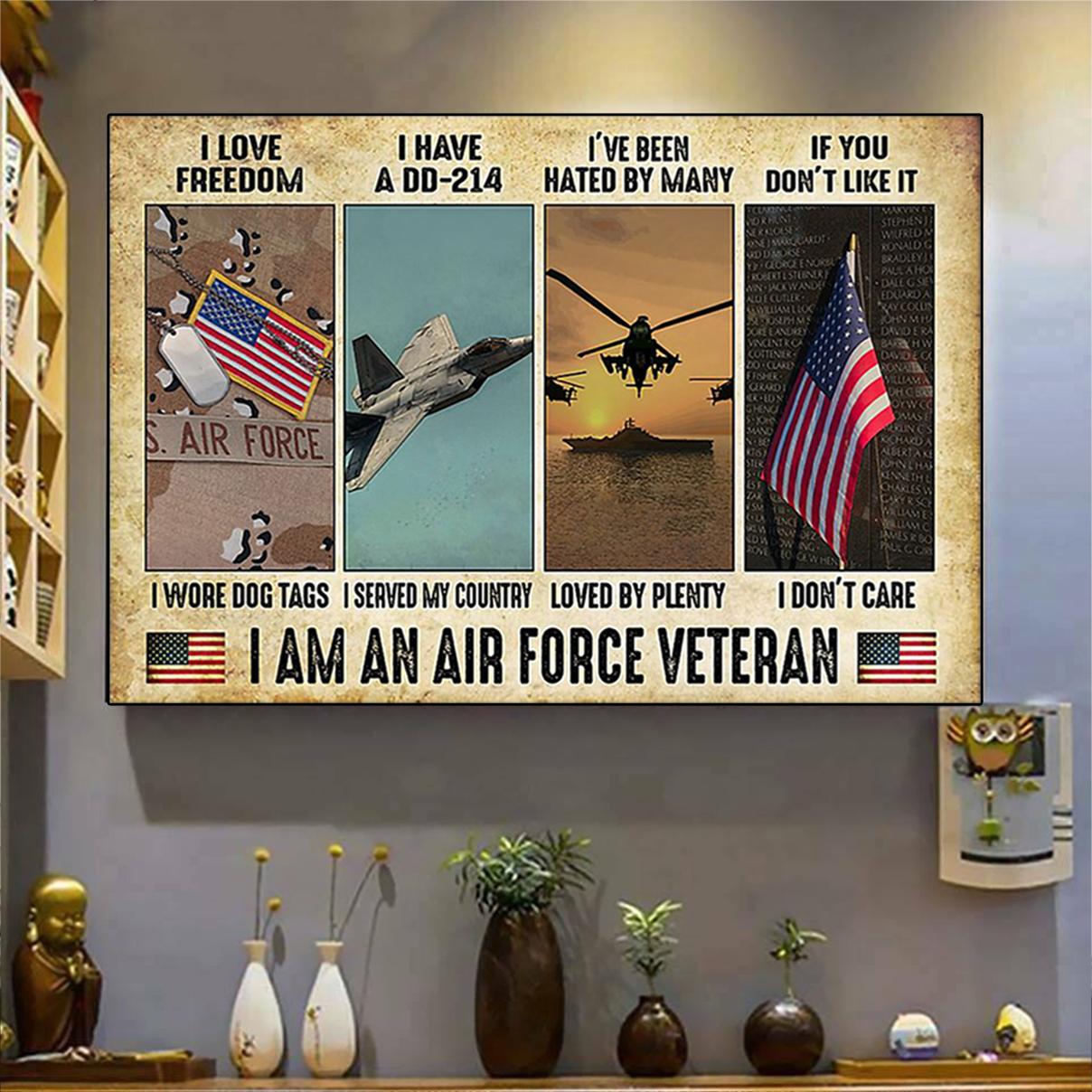 I am an air force veteran poster A2