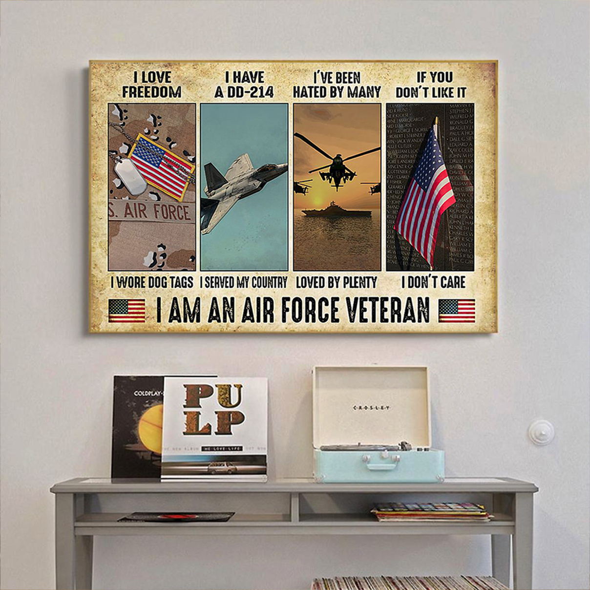 I am an air force veteran poster A3