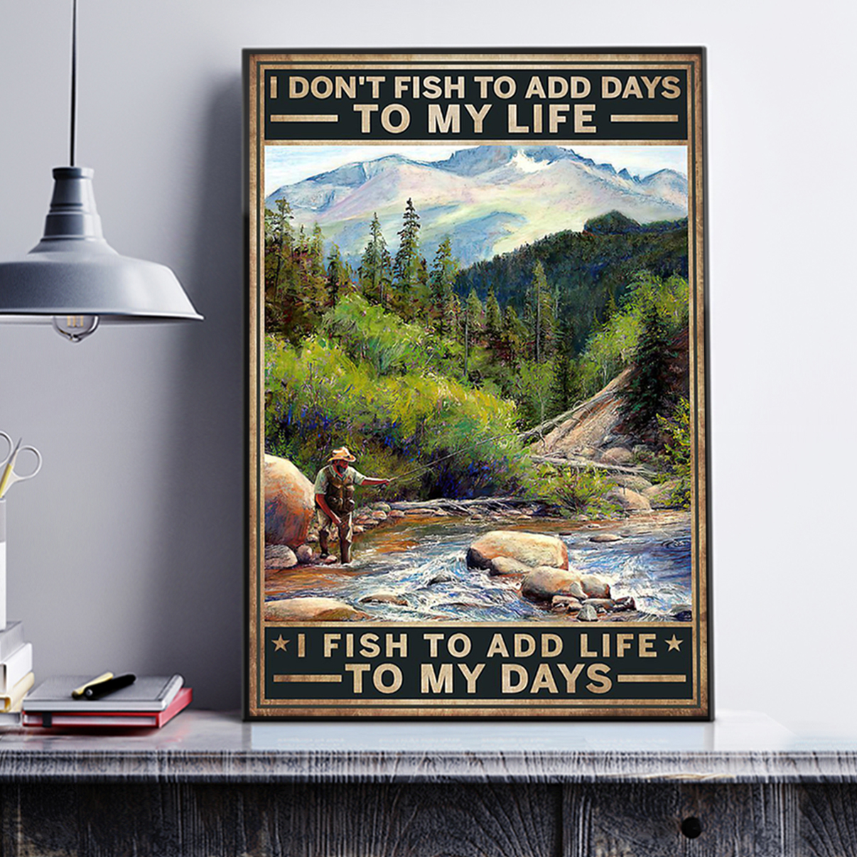 I don't fish to add days to my life I fish to add life to my days poster A1
