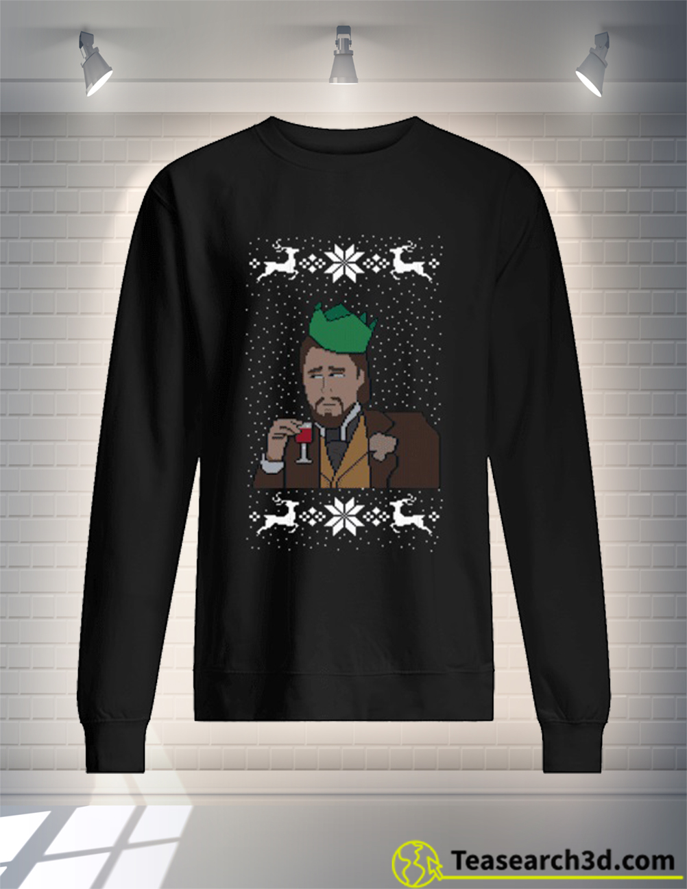 Leonardo DiCaprio christmas sweater and jumper black