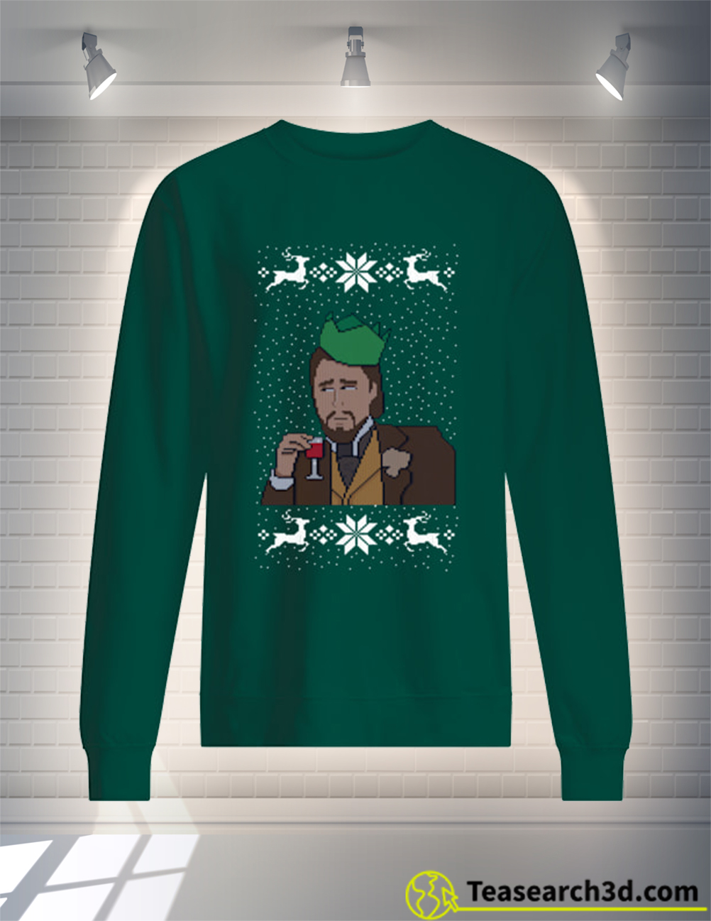 Leonardo DiCaprio christmas sweater and jumper green