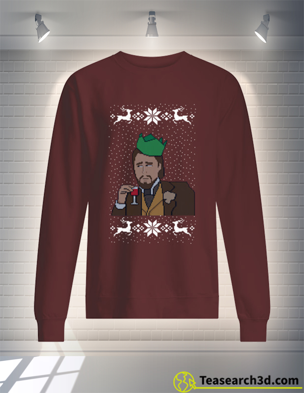 Leonardo DiCaprio christmas sweater and jumper hot chocolate