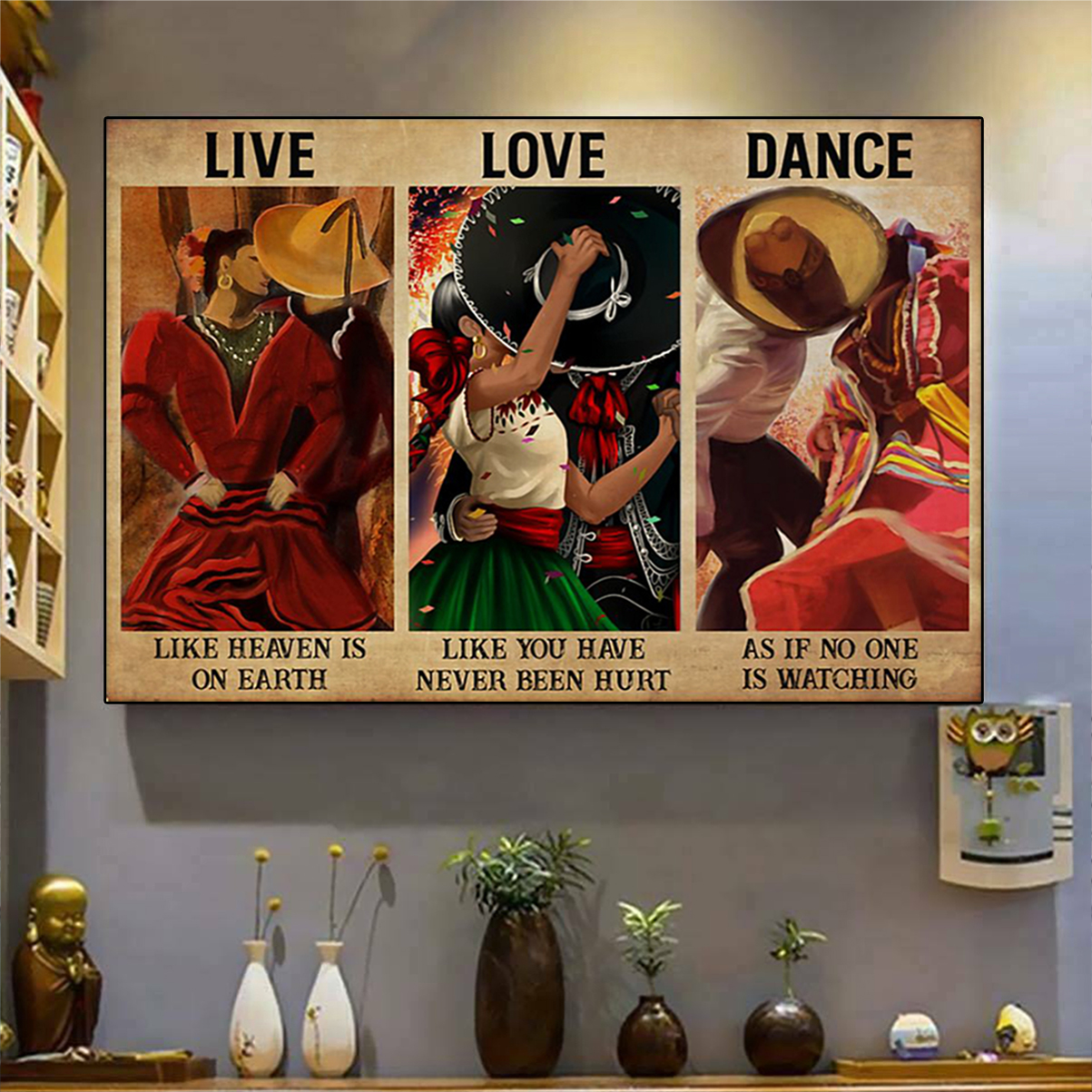 Mexican dance live love dance poster A1