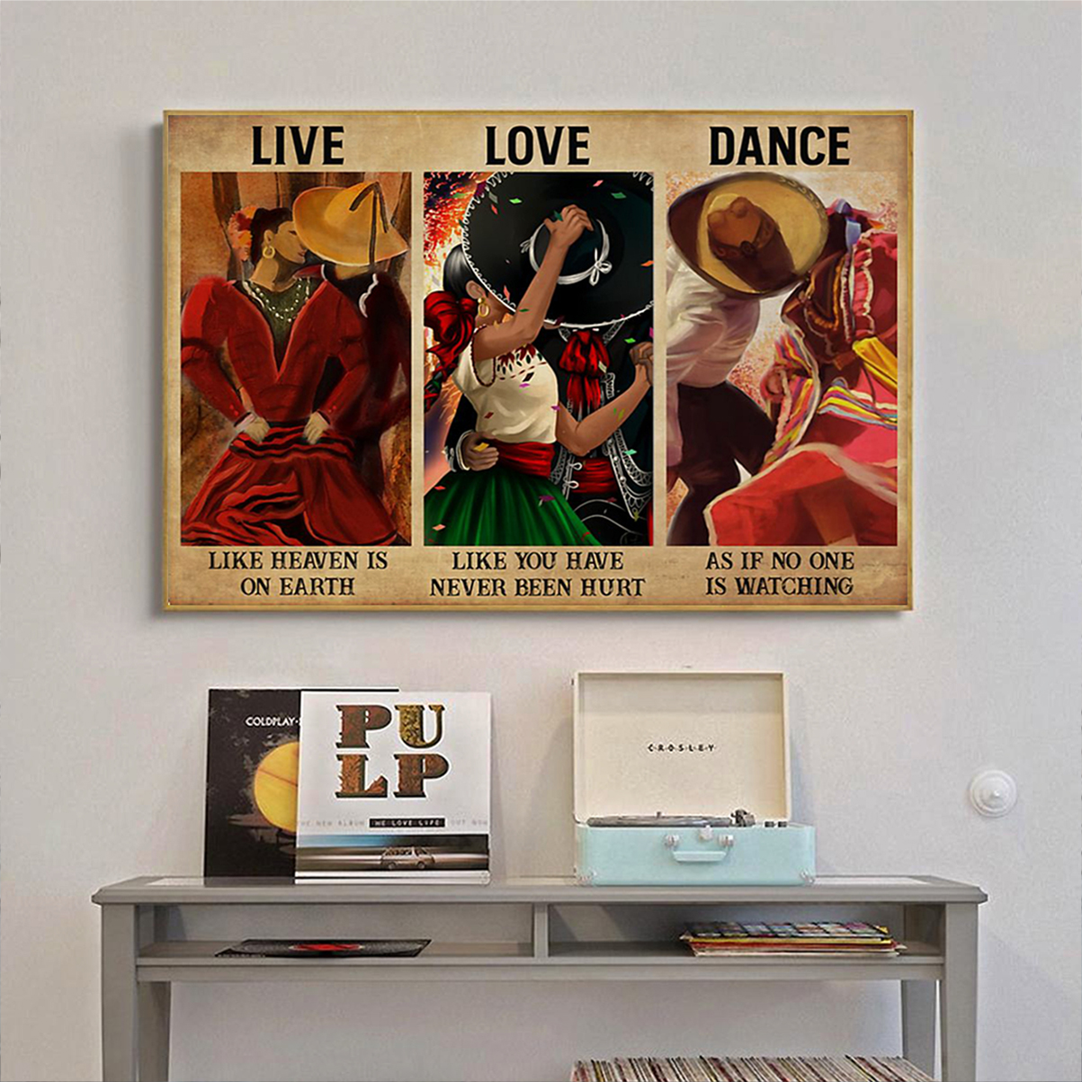 Mexican dance live love dance poster A2