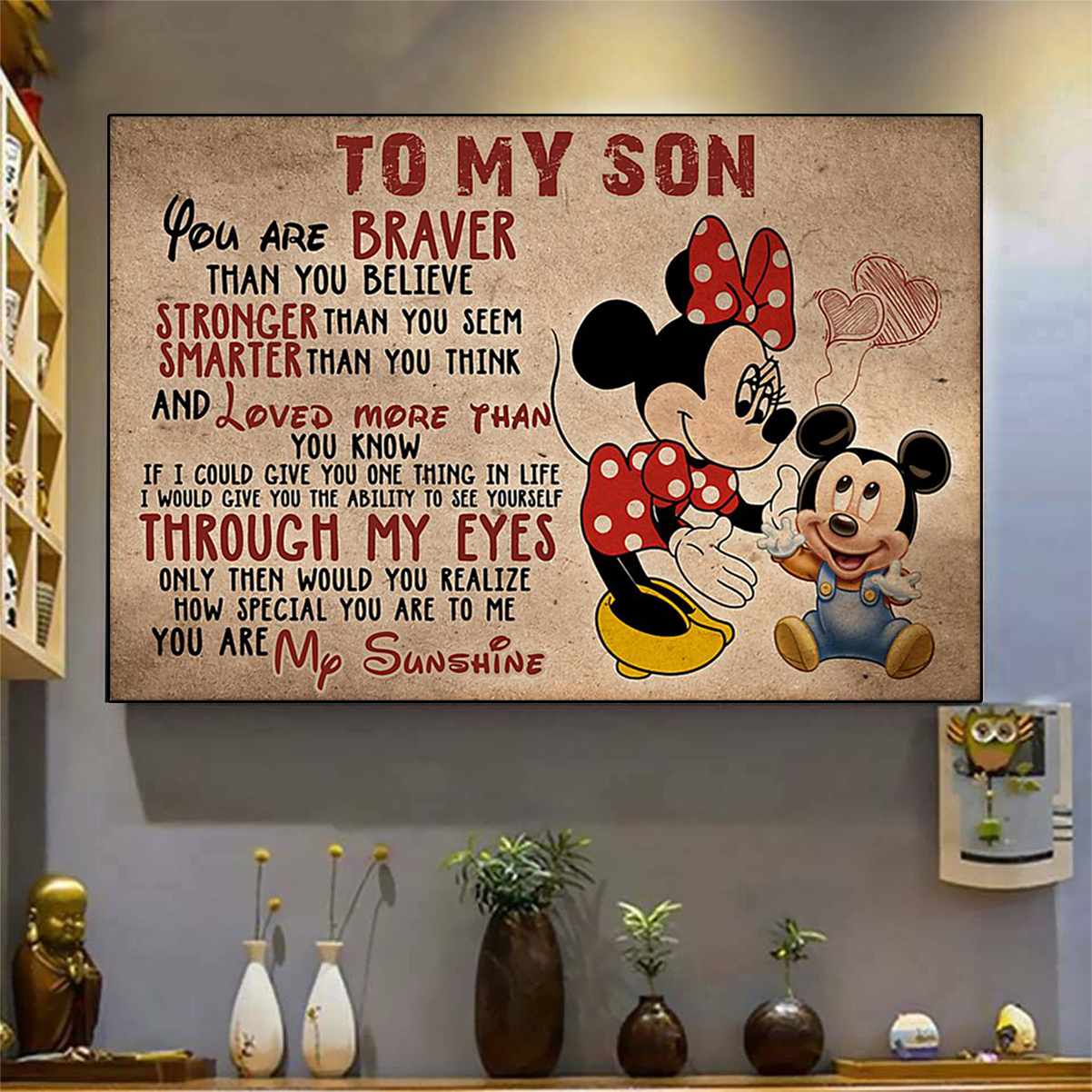Minnie mouse to my son poster A1
