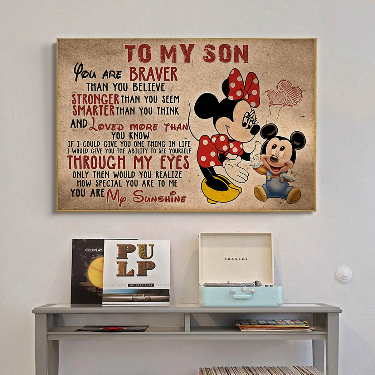 Minnie mouse to my son poster A2