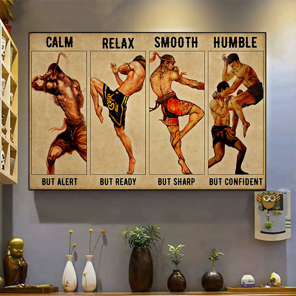 Muay thai calm relax smooth humble poster A1