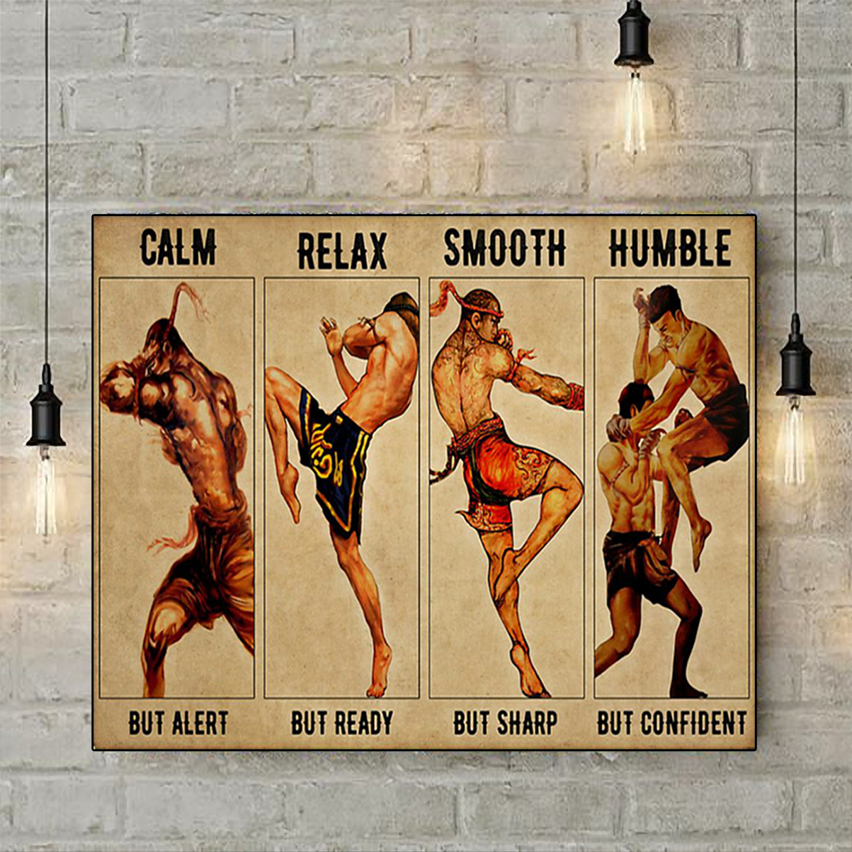 Muay thai calm relax smooth humble poster A3