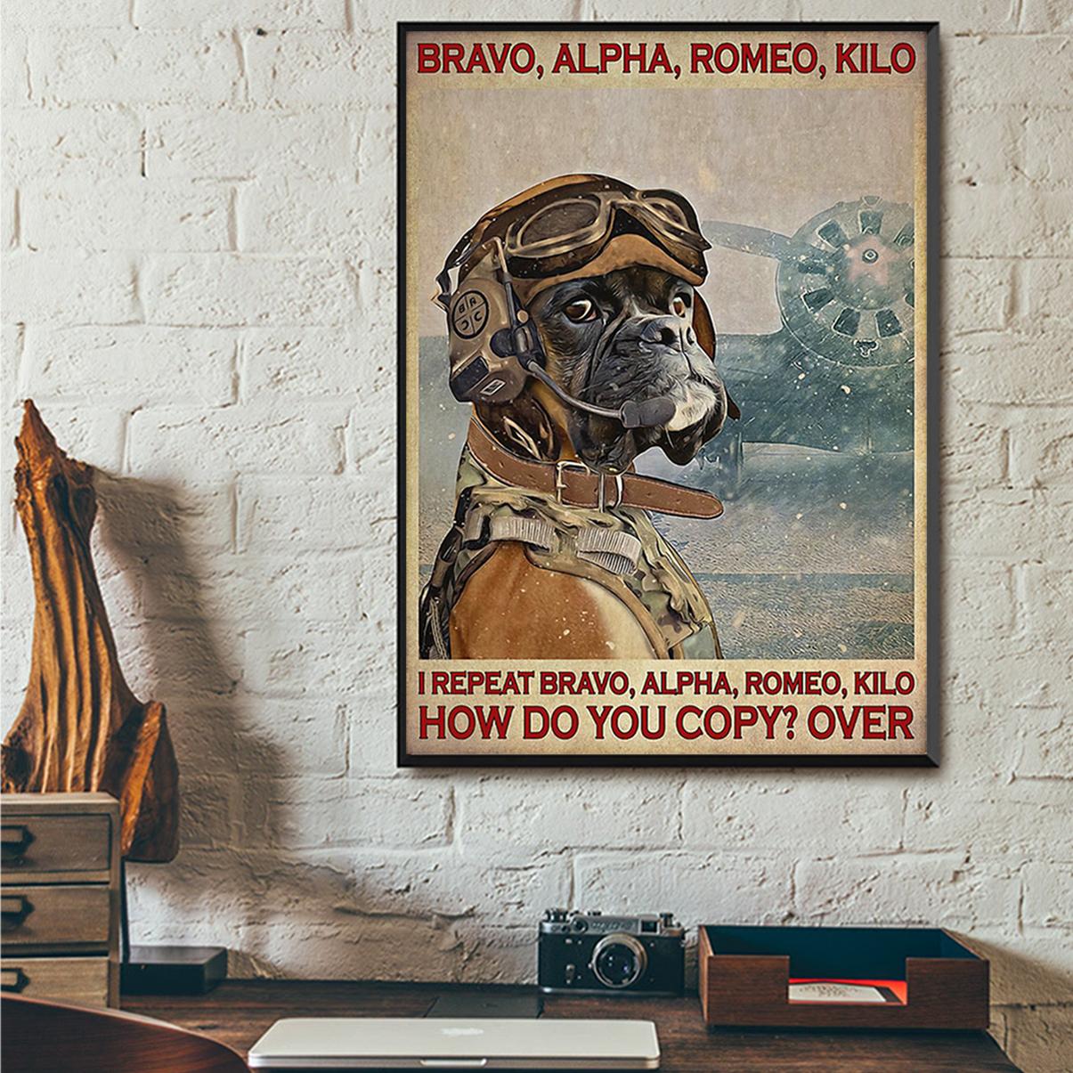 Poster boxer pilot bravo alpha romeo kilo A3