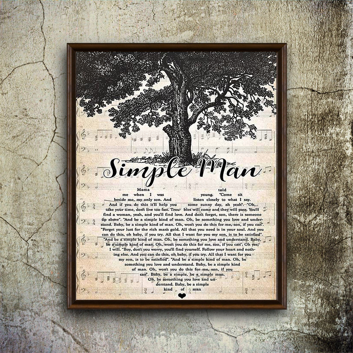 Simple man poster A1