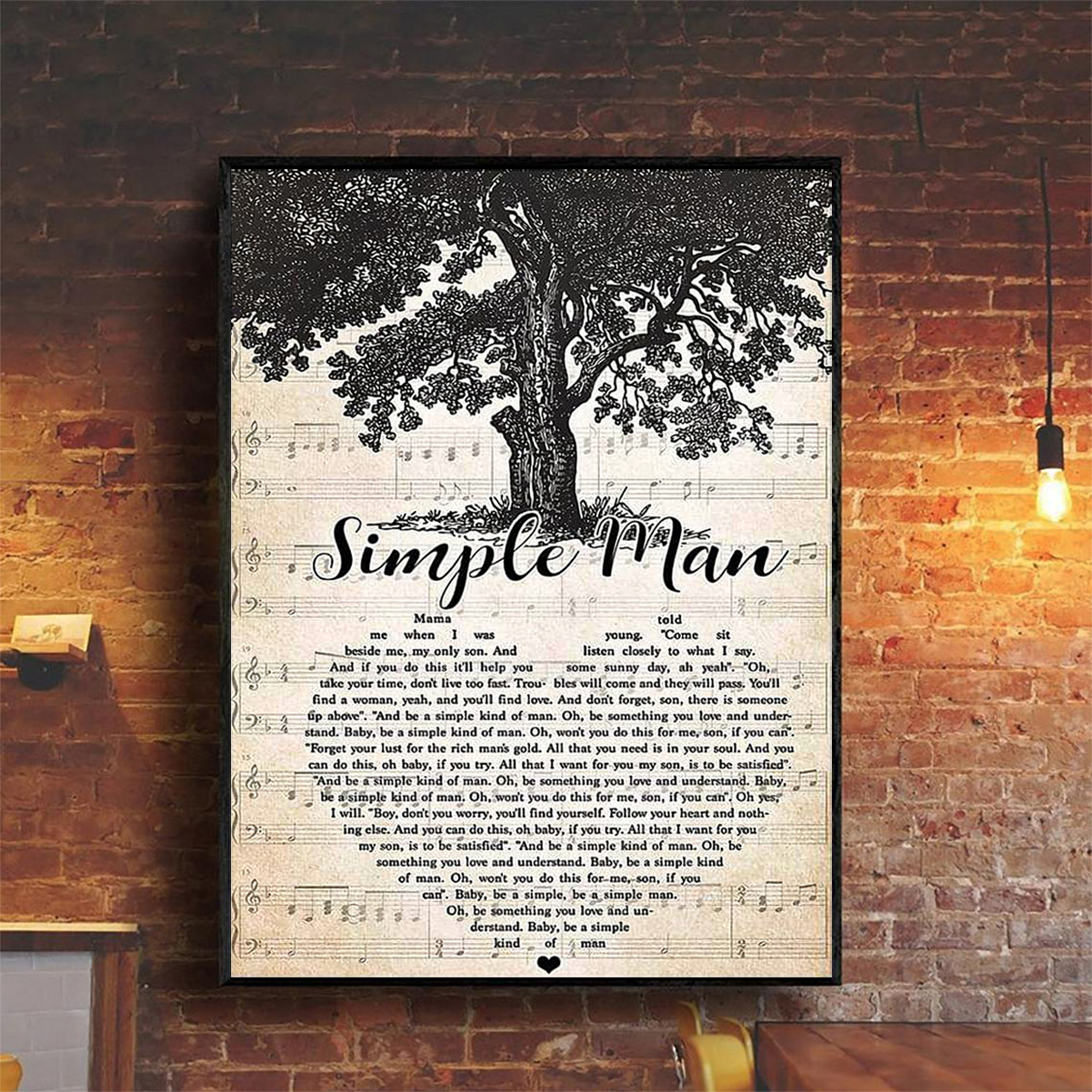Simple man poster A2