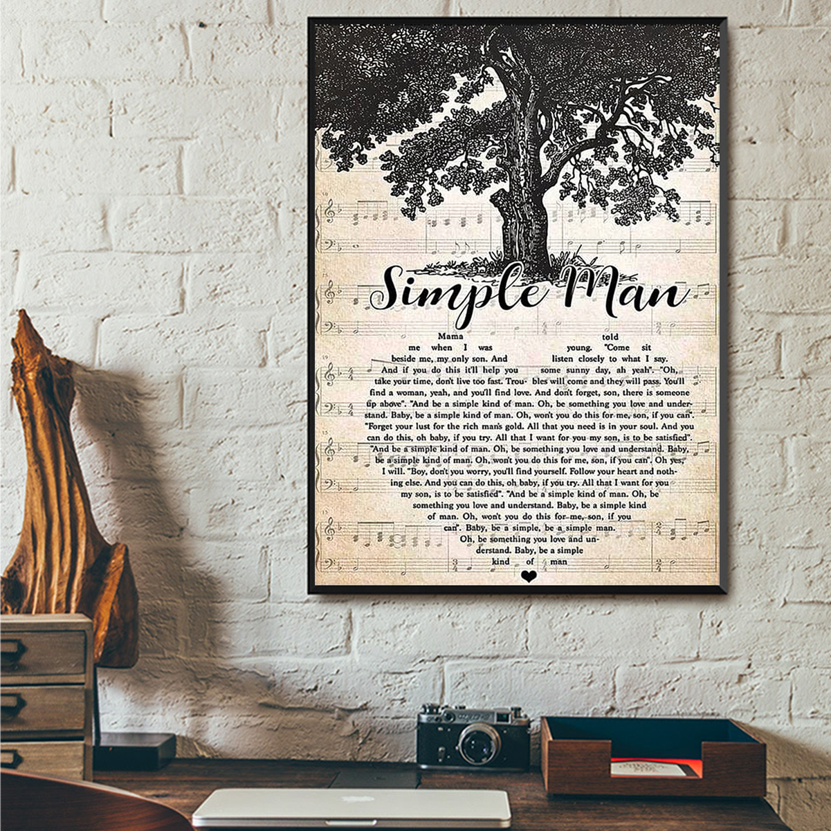 Simple man poster A3