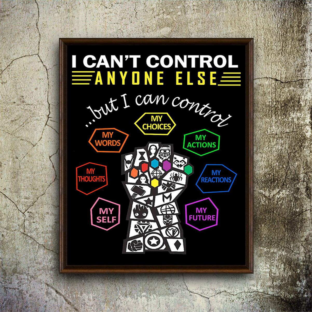 Social worker I can't control anyone else poster A1