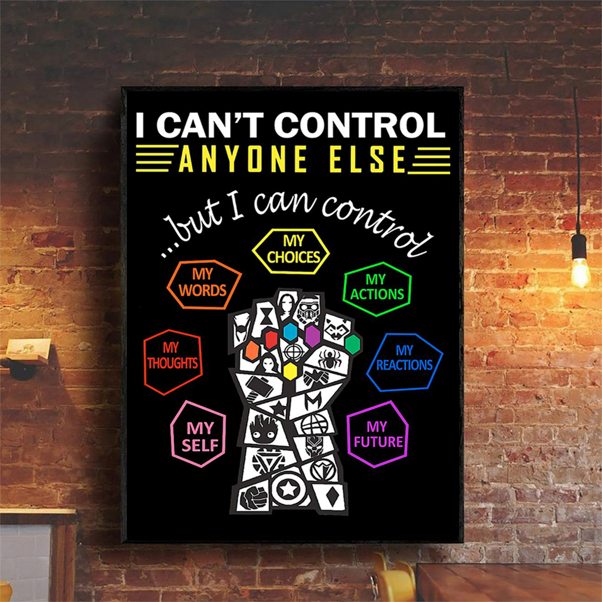 Social worker I can't control anyone else poster A2