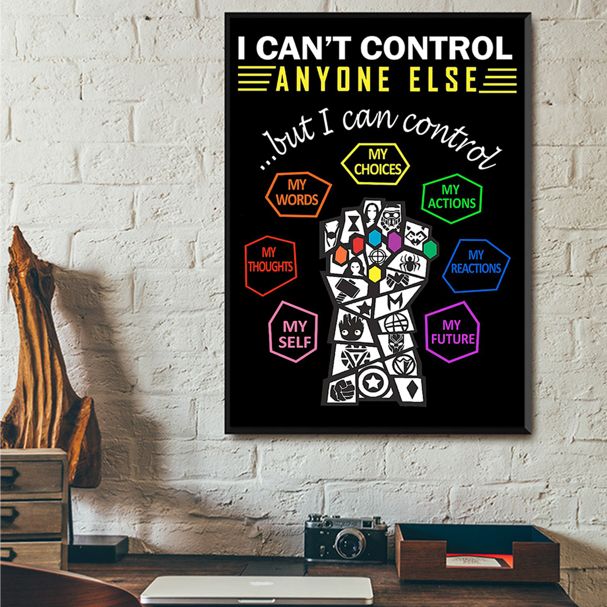 Social worker I can't control anyone else poster A3
