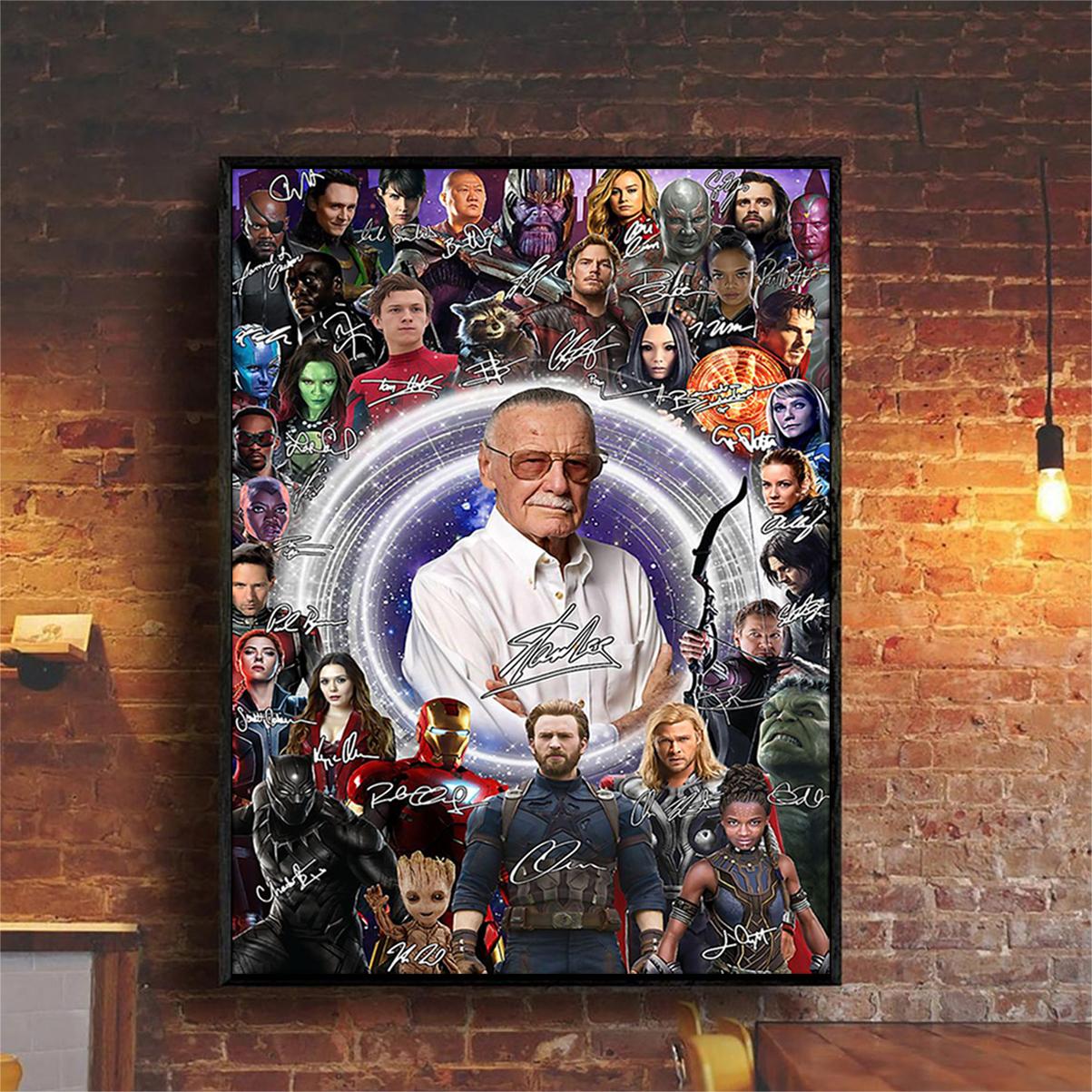 Stan lee superheroes poster A2