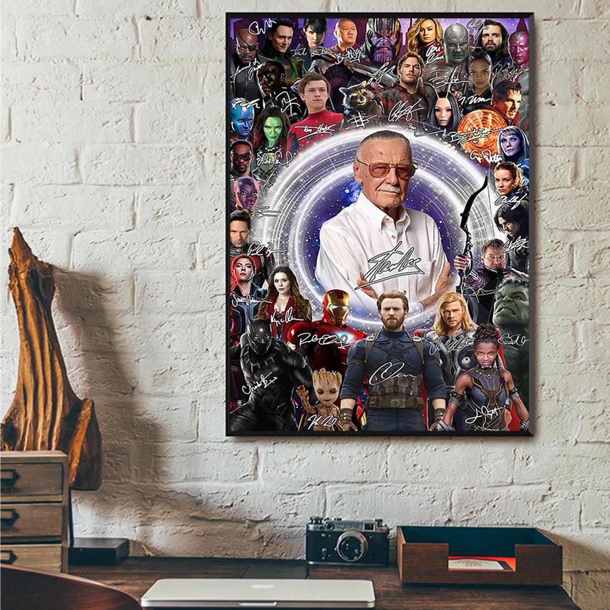 Stan lee superheroes poster A3