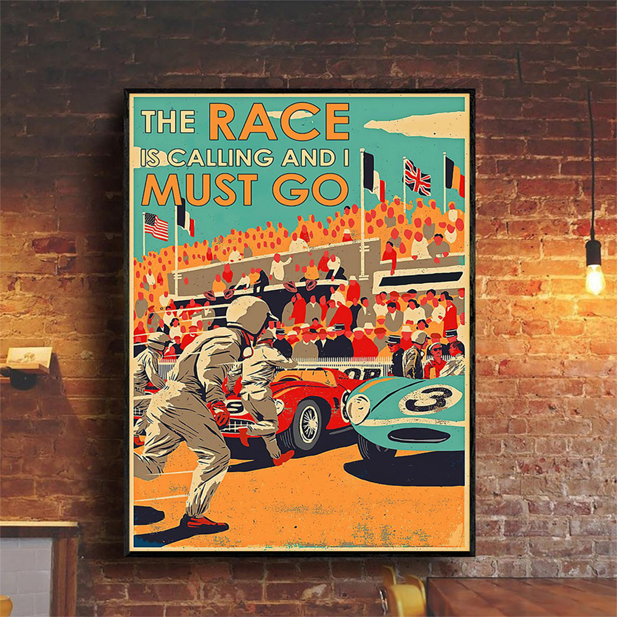 The race is calling and I must go poster A2