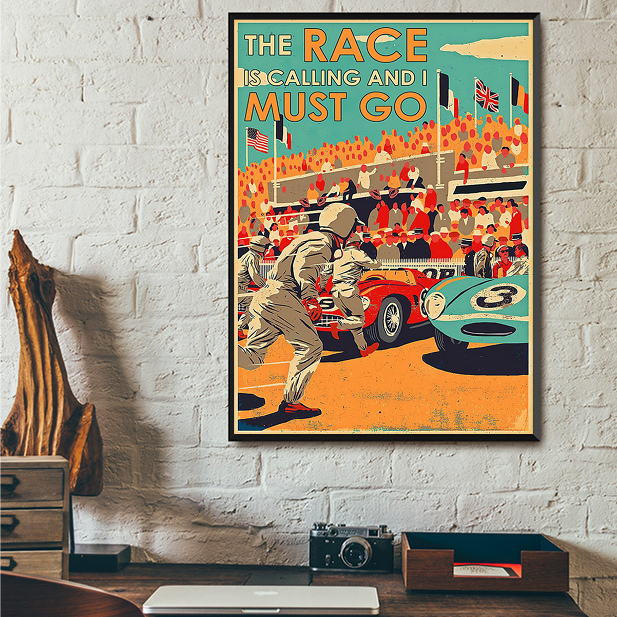 The race is calling and I must go poster A3