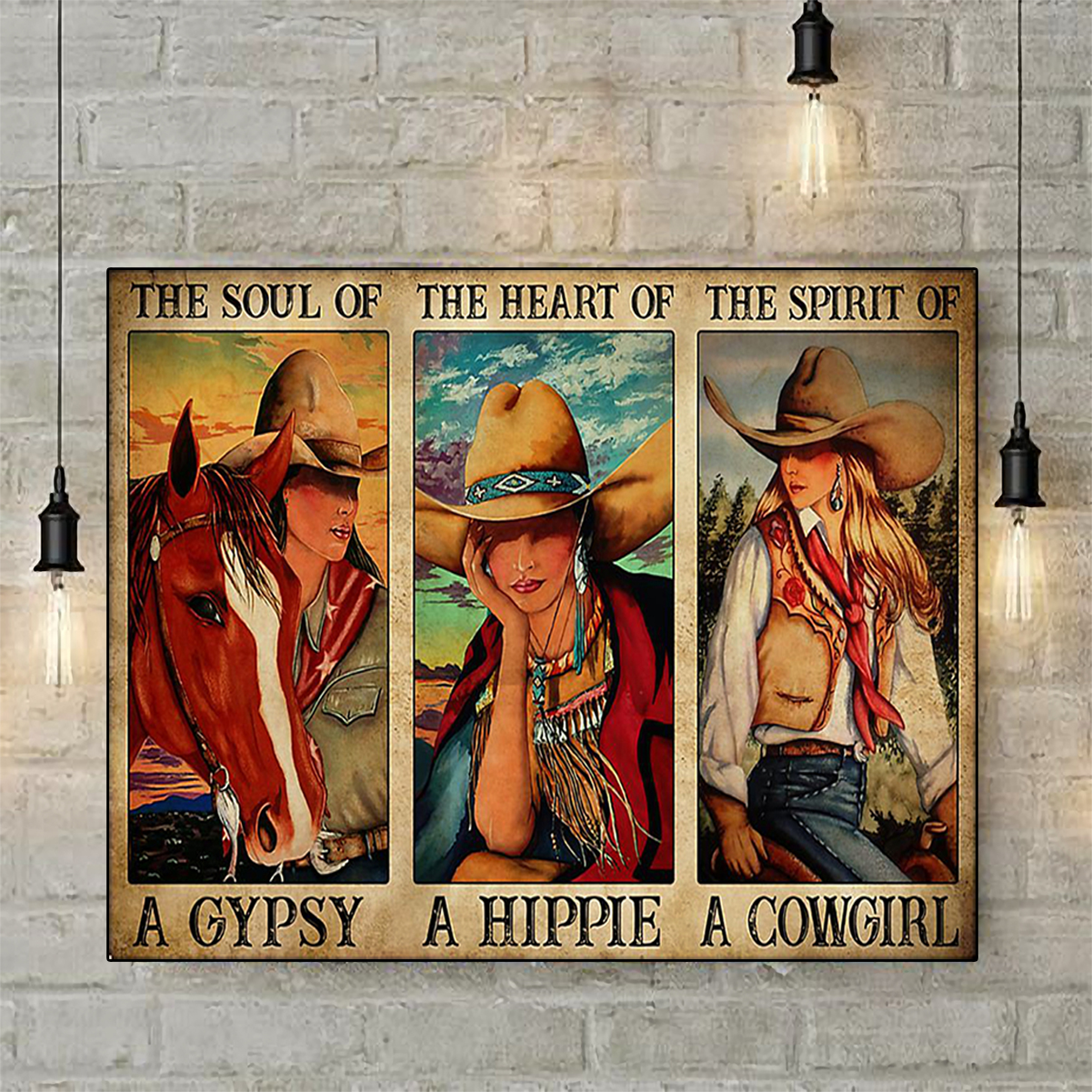 The soul of gypsy Cowgirl poster A2