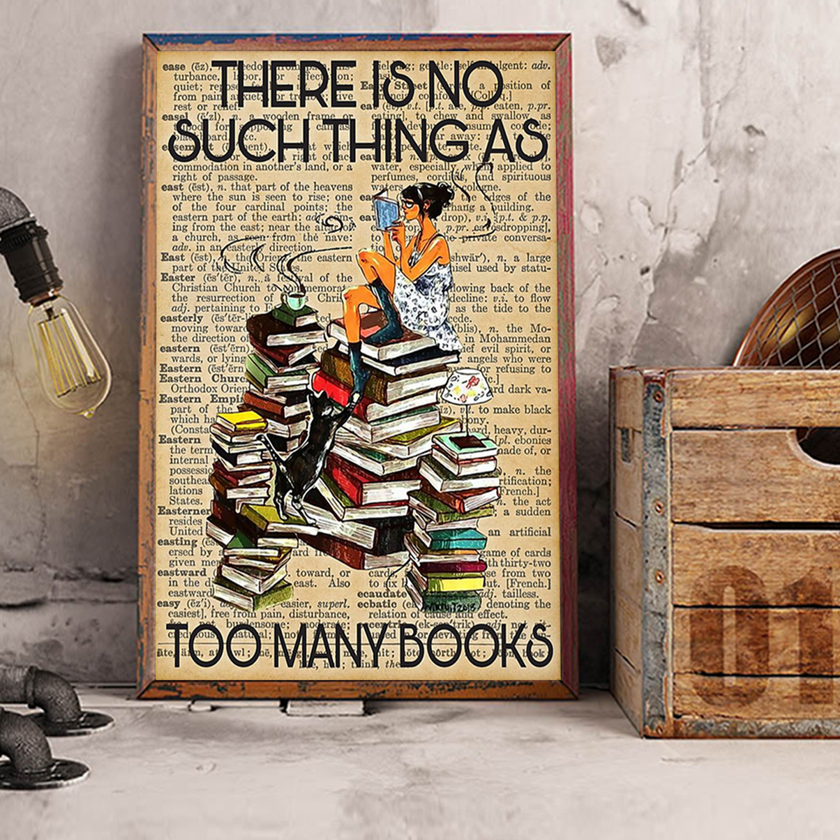 There is no such thing as too many books poster A2