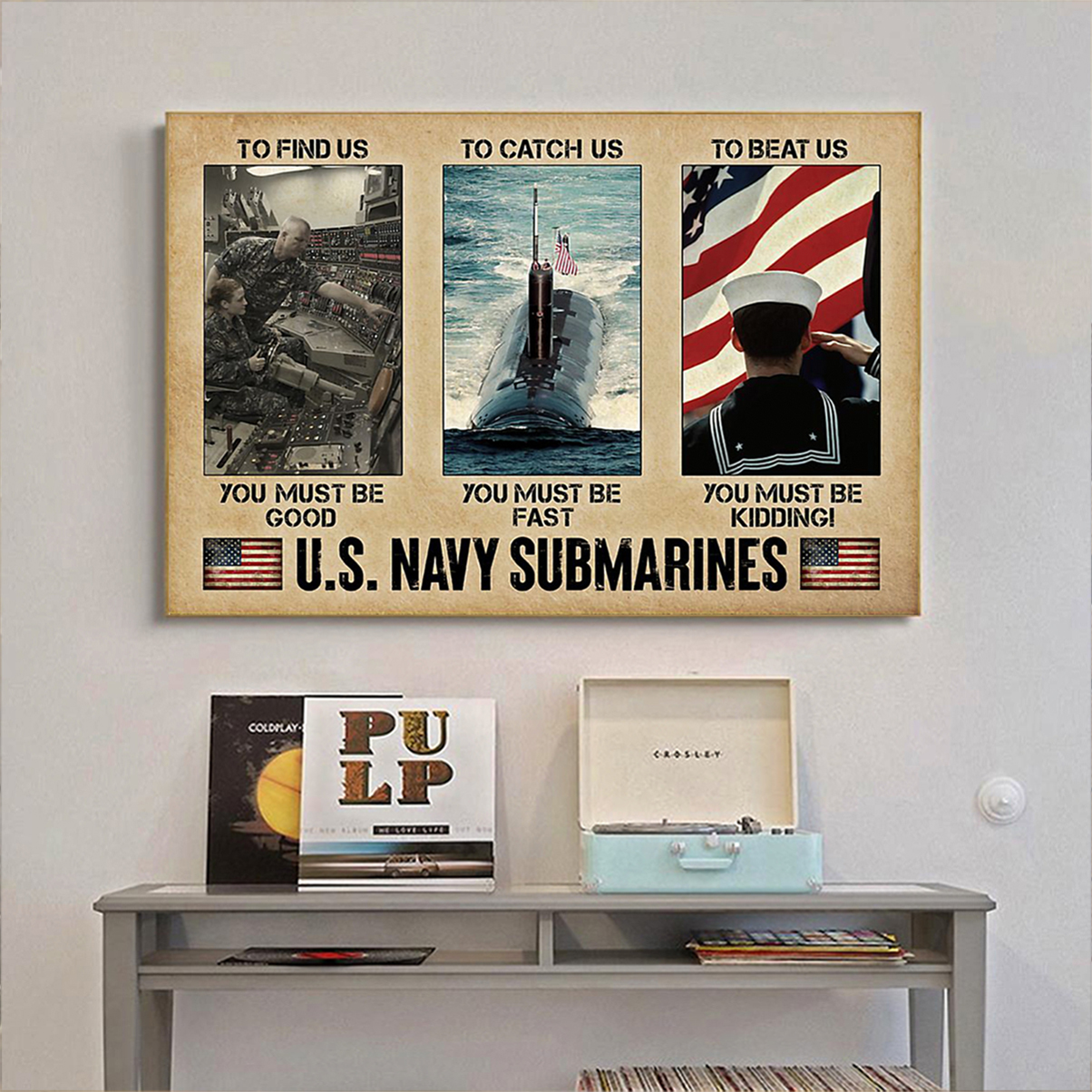 US navy submarines poster A1