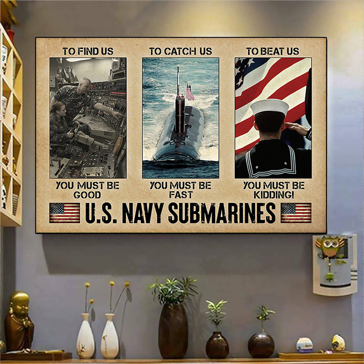 US navy submarines poster A2