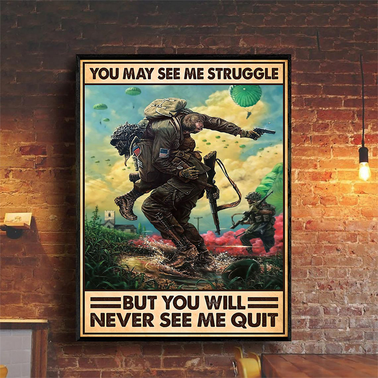 Veteran you may see me struggle poster A2