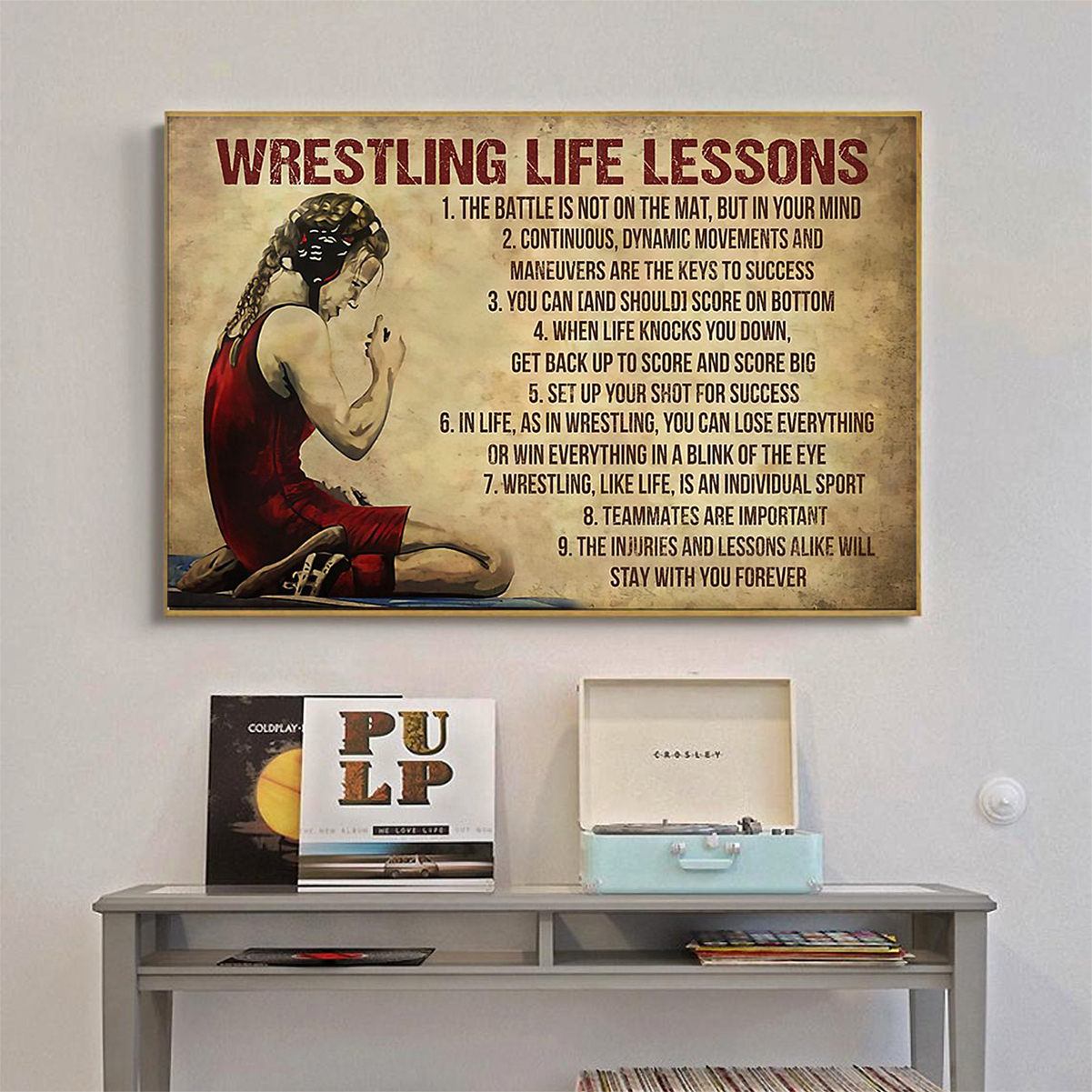 Wrestling life lessons poster A1