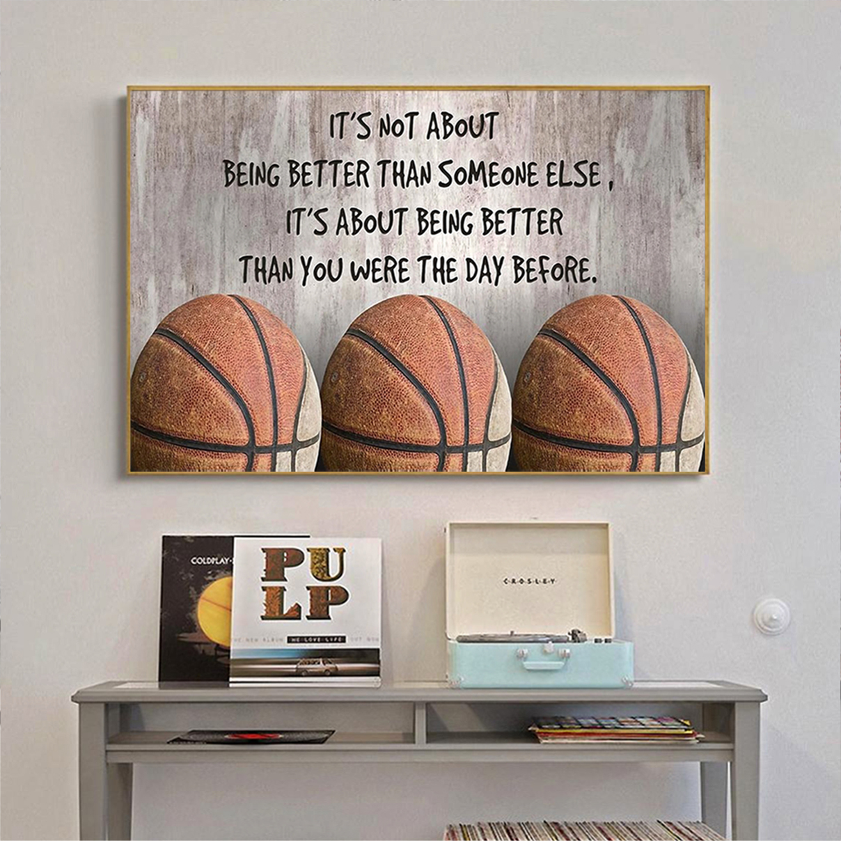 Basketball it's not about being better than someone else poster A1