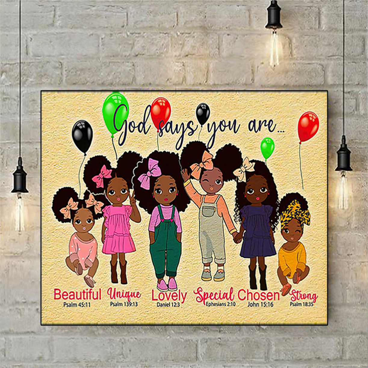 Black girl godchild says you are poster A1
