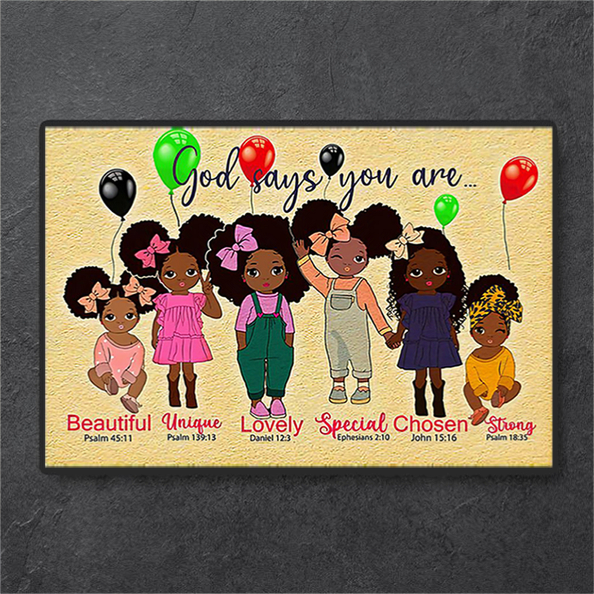 Black girl godchild says you are poster A3