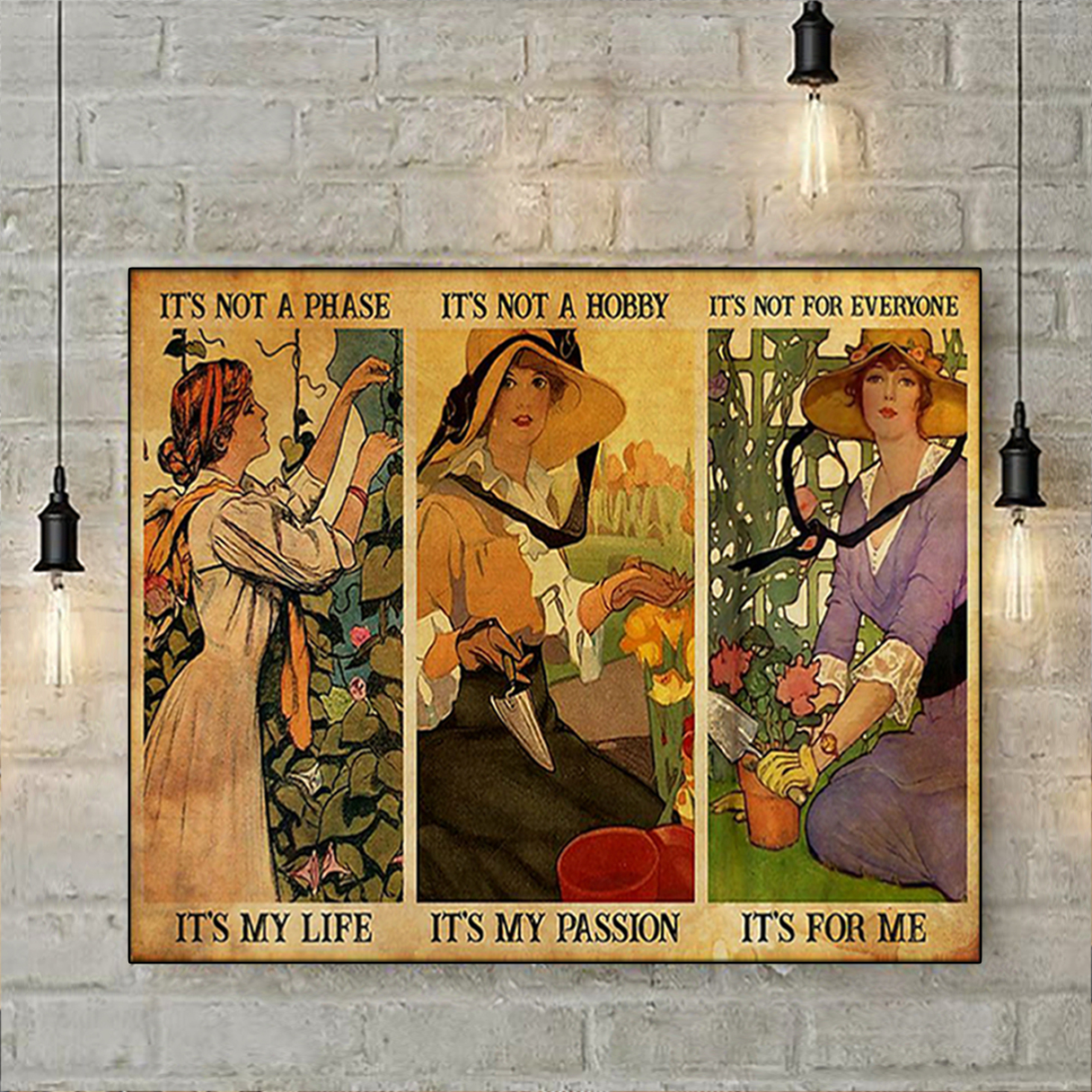 Gardening girl it's not a phase it's my life poster A1