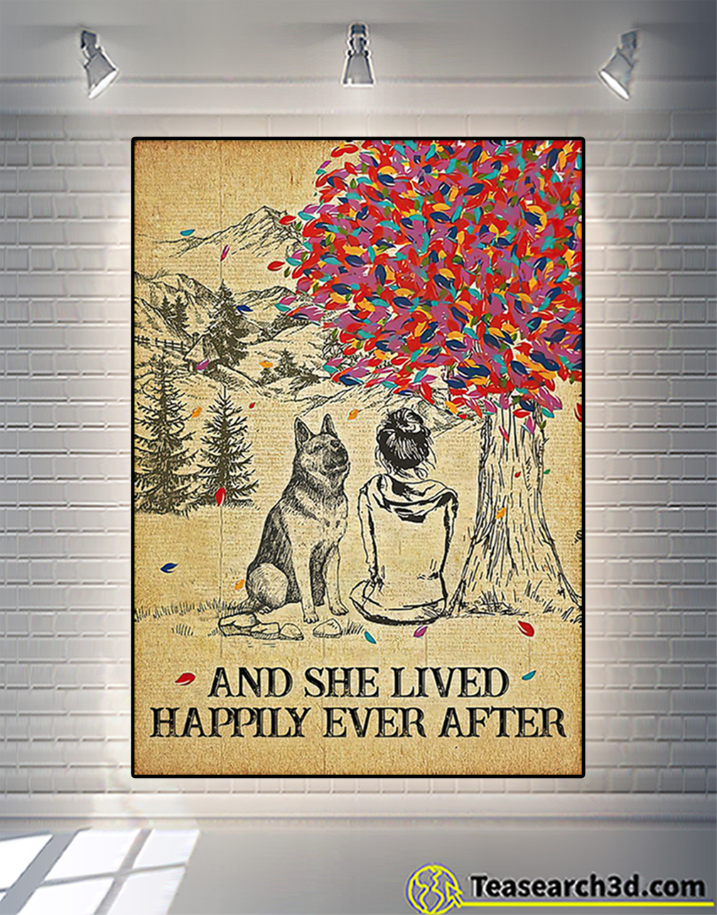 German shepherd and she lived happily ever after poster