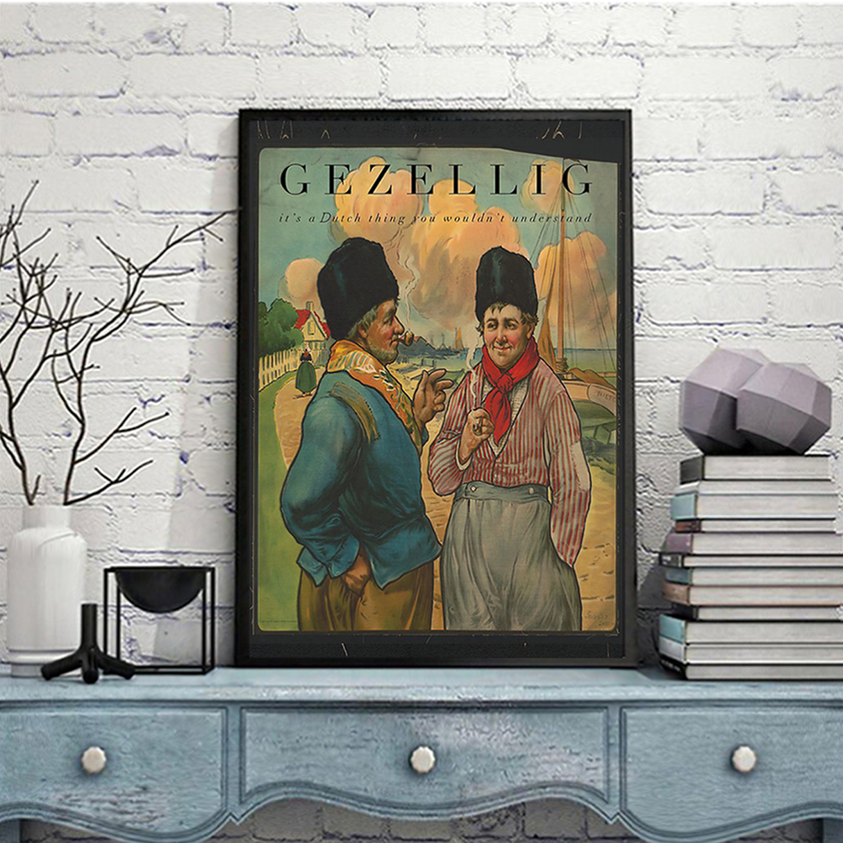 Gezellig it's a dutch thing you wouldn't understand poster A3