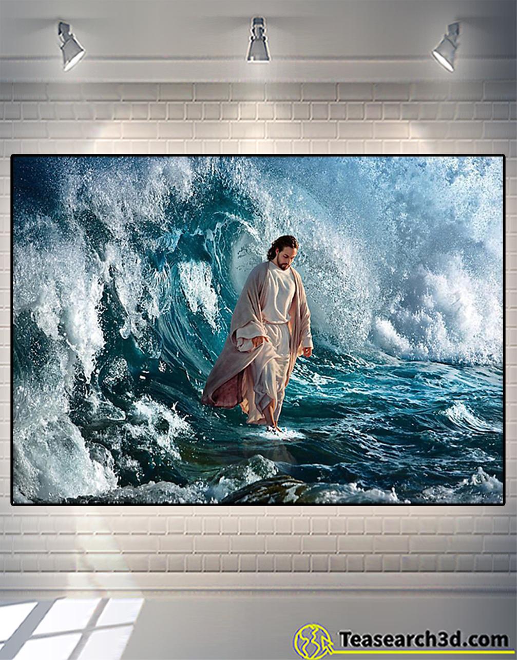 Jesus he walk on water poster