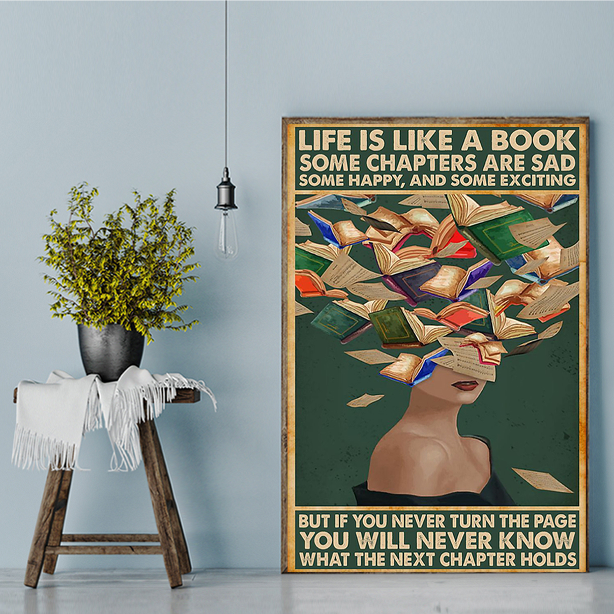 Life is like a book some chapters are sad poster A2